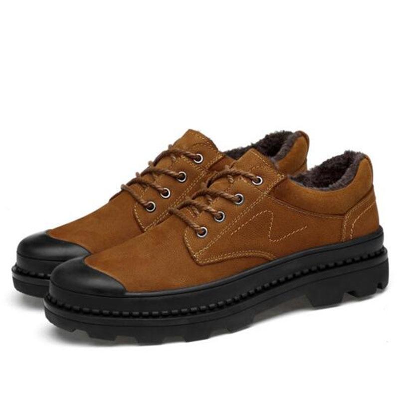 Otoño invierno caliente venta hombres plataforma zapatos de cuero - Zapatos de hombre - foto 2