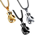 New Lovers Stainless Steel Boxing Pendant Necklace Creative Gift Boutique For Men/Women Fashion Jewelry VBV10 P0.41