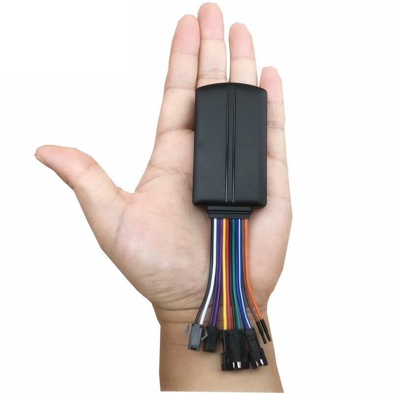 Dispositivo de rastreo de vehículos y vehículos con GPS, rastreador de funciones múltiples de 12 pines con AC ACC, software de seguimiento en línea de detección de combustible BW09 GPS BEIDOU 2020, bloqueador de interferencias de señal, ANTI rastreador, sin seguimiento, funda de acecho