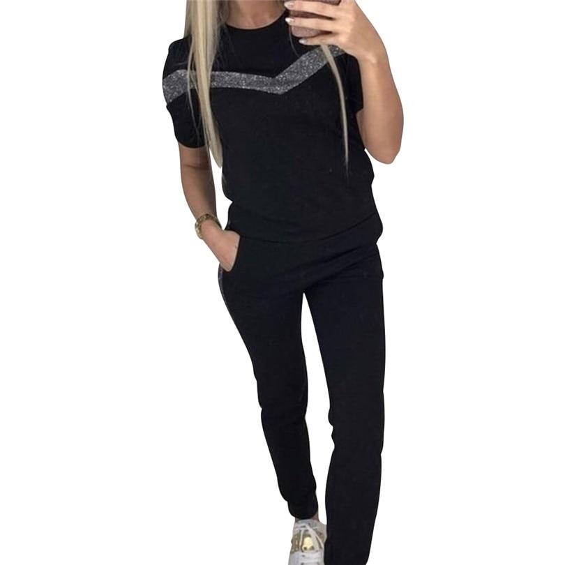 Tapakva комплект из двух предметов спортивный костюм геометрический в стиле пэчворк с короткими рукавами футболка + длинные штаны 2 предмета на...