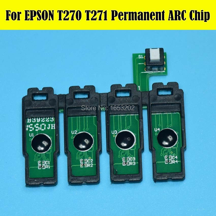 HOT!!! 1 Set Show Ink Level Permanent Cartridge Chip For Epson WF 7110/7610/7620/3620/3640 Printer Ciss 4 color permanent chip for hp 685 for hp 3525 4615 4620 5525 4625 printer cartridge chip