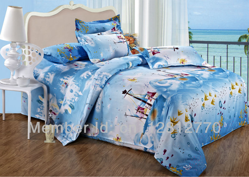 free shipping 4pcs twin full queen king size bedding sets duvet cover flat sheet and. Black Bedroom Furniture Sets. Home Design Ideas