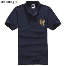 YUANHUIJIA 2017 new fashion brand turned to summer casual men's business cotton shirt multi-color size XS-XXXL