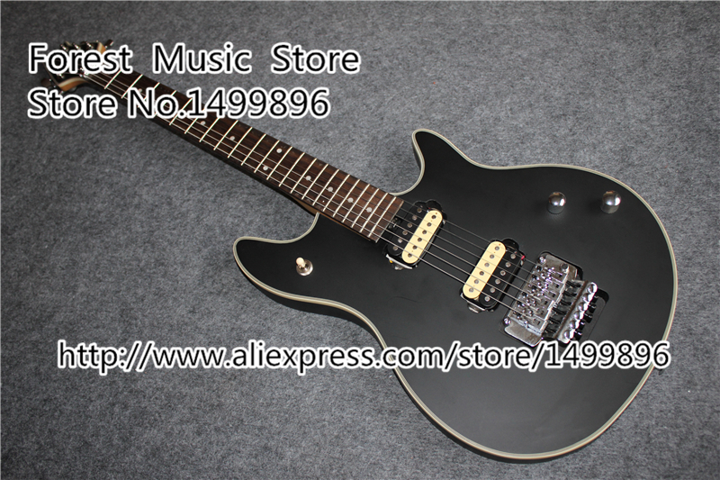 New Arrival Matte Black Finish Wolfgang EVH Electric Guitars Chinese Solid Guitar Body & Kits Available top selling chinese sg 400 electric guitar zebra stripe finish guitars body