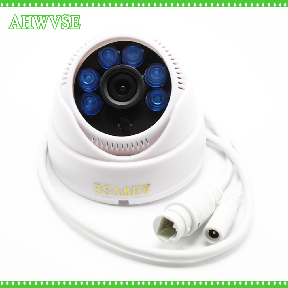 AHWVSE H.264 POE Camera Promotion HD 2MP IR 15m network IP Camera security cctv Dome Camera Support POE