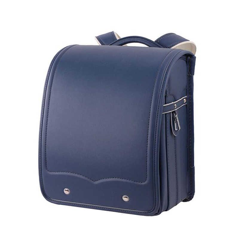 Новый детский ортопедический школьный портфель, однотонный рюкзак из искусственной кожи для девочек, с металлической пряжкой, регулируемый плечевой ремень, детские сумки для книг