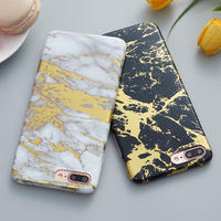 Viaerson Plating Lase Golden Marble Printed Glitter Soft Tpu Phone Case Cover For IPhone 6 6s