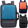 17 17.3 Inch 2 Way Carrying Waterproof Patchwork Nylon Laptop Notebook Backpack Bags Case Messenger Backpack for Men Women