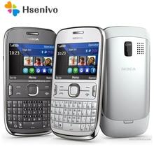 ASHA 302 Débloqué Original Nokia Asha 302 3G réseau GSM WIFI Bluetooth JAVA 3.15MP Caméra Mobile Téléphone un an garantie