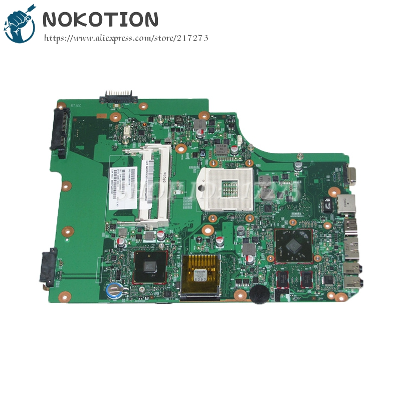 NOKOTION V000185570 6050A2313501 MAIN BOARD For Toshiba satellite L505 Laptop Motherboard HM55 DDR3 HD4500 Discrete graphics nokotion laptop motherboard for dell vostro 3500 cn 0w79x4 0w79x4 w79x4 main board hm57 ddr3 geforce gt310m discrete graphics