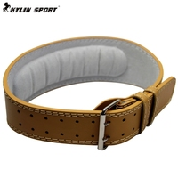 Professional Leather Weightlifting Belt Lumbar Support Bodybuilding Waist Support Occupational Safety Gym Belt For Wholesale