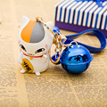 Precioso Maneki Neko Lucky Cat Resina de Protección Ambiental de Juguete de Dibujos Animados Llavero Para El Regalo de Los Niños Del Monedero Colgante de Los Encantos