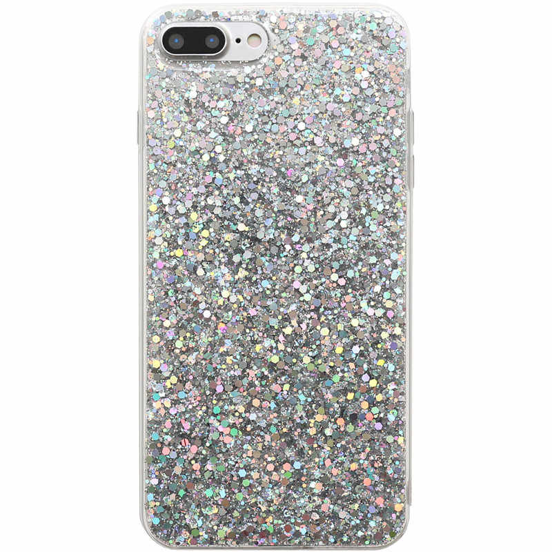 Manque de luxe Bling paillettes coloré étui pour iphone X couverture arrière mode bonbon couleur coque de téléphone pour iphone XS Max XR 6 S 7 8 Plus