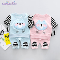 Striped Baby Boy Girl Clothes Sets 2018 New Cotton Kids Clothes Boys Girls Clothing Set Long Sleeve Boys Clothes Tshirts+Pants