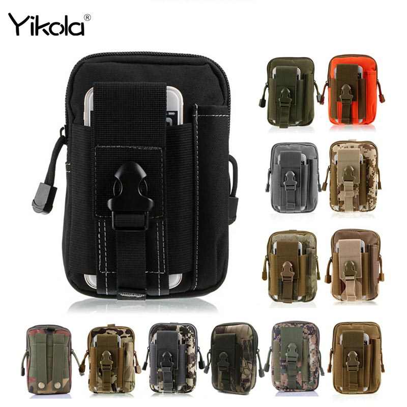 For Samsung Universal Outdoor Tactical Holster Military Molle Hip Waist Belt Bag For iPhone Wallet Pouch Purse For LG
