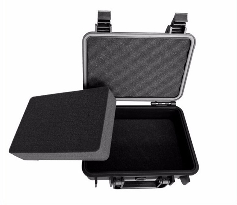 256*178*105MM Waterproof Tool Case Toolbox Camera Case Suitcase Impact Resistant Sealed With Pre-cut Foam Lining Shipping Free