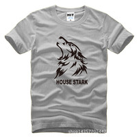 2016 Gym Arder Game Of Thrones HOUSE STARK T Shirts Men Cotton Song Of Ice And