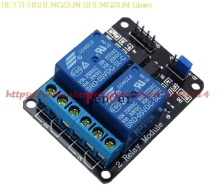 цена на Free Shipping  2-channel New 2 channel relay module relay expansion board 5V low level triggered 2-way relay module