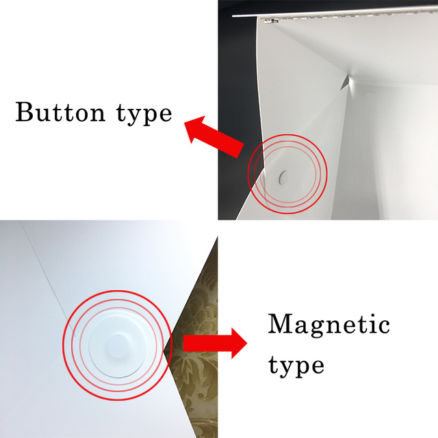Portable Lightbox Mini Softbox LED Photo Studio Folding Light box Photography Backgound fotografia Tent Kit for dslr accessories
