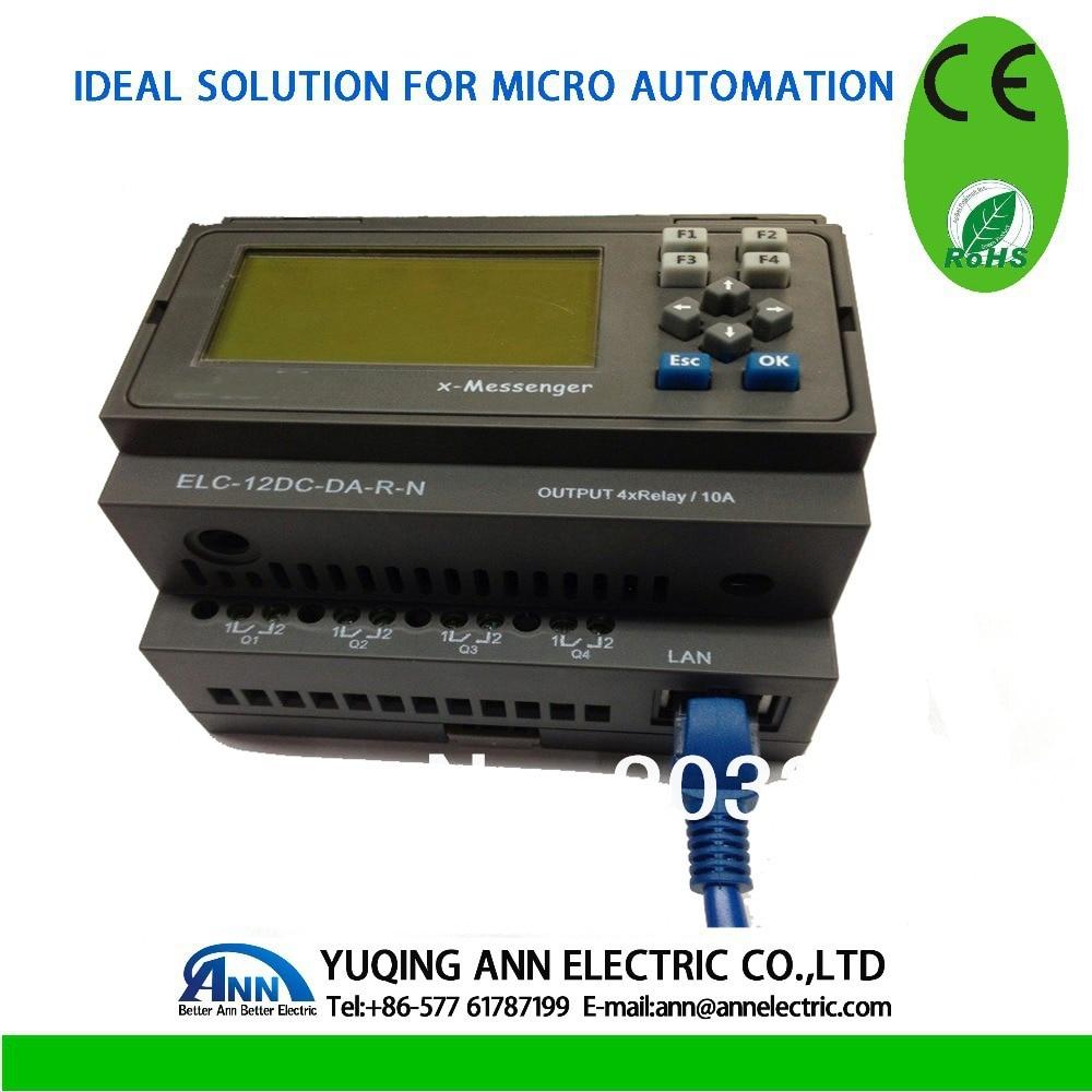 PLC  Ethernet PLC, ELC-12DC-DA-R-N-HMI,Built-in Ethernet capability plc ethernet plc elc 12dc da r n hmi built in ethernet capability