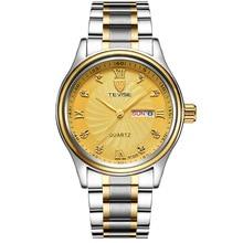 купить TEVISE Luxury Week Day Date Watch Men 2018 Waterproof Fashion Quartz Stainless Steel Wrist Watches for Men relogio masculino дешево