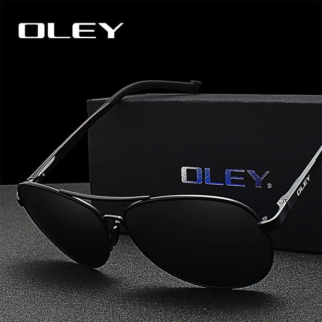 9f5371ed7ab OLEY Brand 2018 New Fashion Classic pilot Sunglasses Men Polarized  Lightweight aluminum frame Summer UV protection