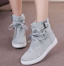 Fashion New Women Boots Shoes 2017 Summer Canvas Shoes Female Outdoor Rubber Ankle Shoes for Women Girl Zapatos