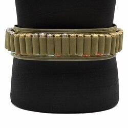 CQC ทหาร 30 รอบ 12 Gauge เชลล์ Bandolier เข็มขัดยุทธวิธีอุปกรณ์เสริม Airsoft Paintball การล่าสัตว์ 12GA Ammo Cartridge เข็มขัด