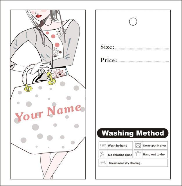 Tienda Online Impresión personalizada etiquetas colgantes etiqueta ...