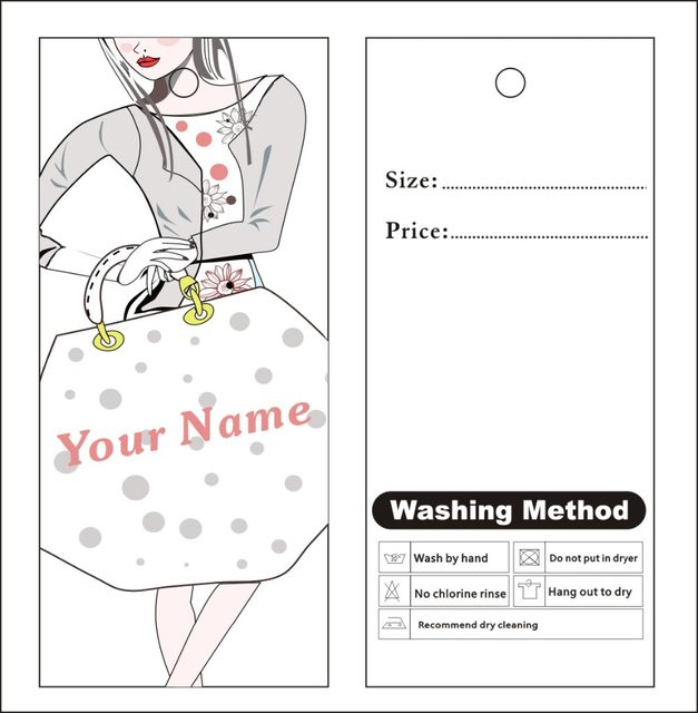Online Shop Custom Print Hang Tags Price Label Famous Template - Packing label template