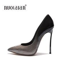 Women Shoes High Heels Women Pumps Stiletto 12CM Heels Sexy Shoes Woman High Heels Patent Leather Pointed Toe High Heels