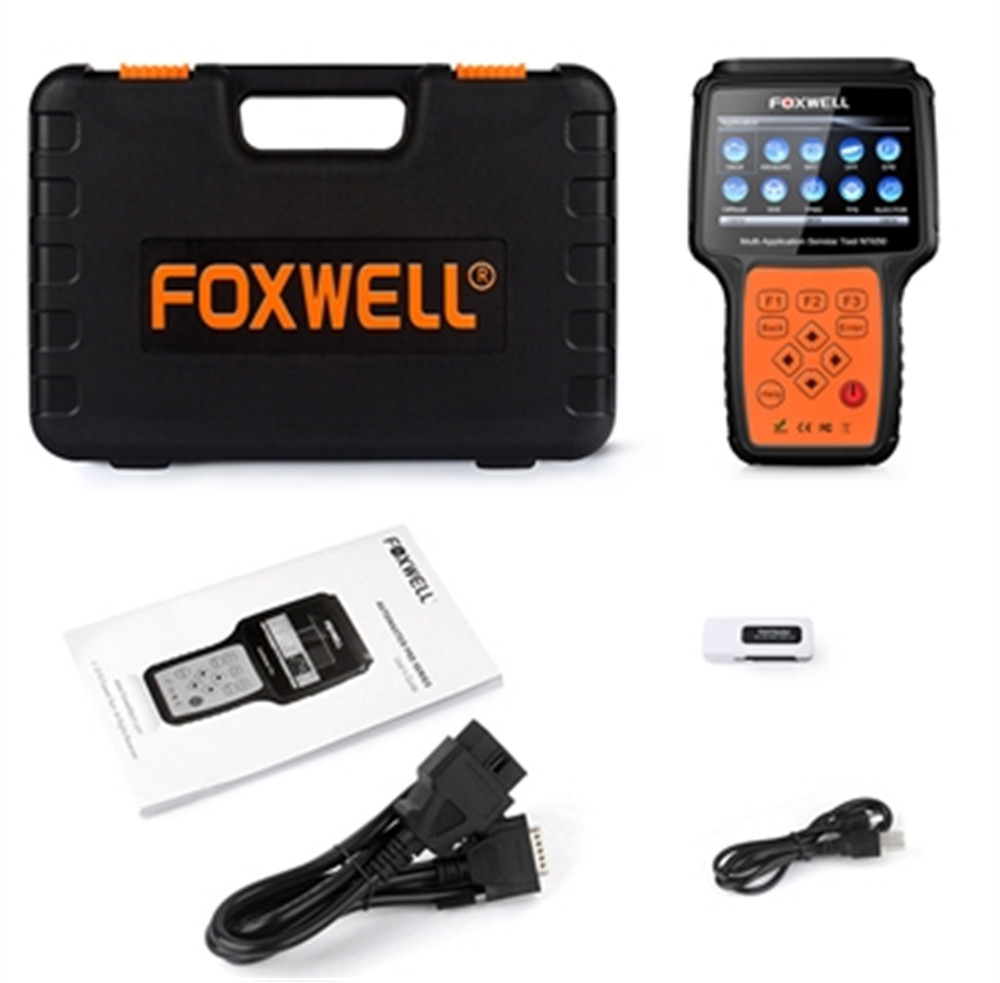 FOXWELL NT650 OBD2 Automotive Scanner Foxwell NT 650 Support ABS Airbag SAS EPB DPF Oil Service Reset