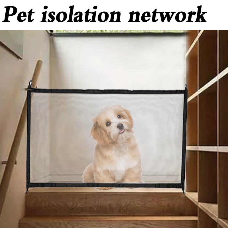 Dropshipping 2018 Dog Gate The Ingenious Mesh Magic Pet Gate For Dogs Safe Guard and Install