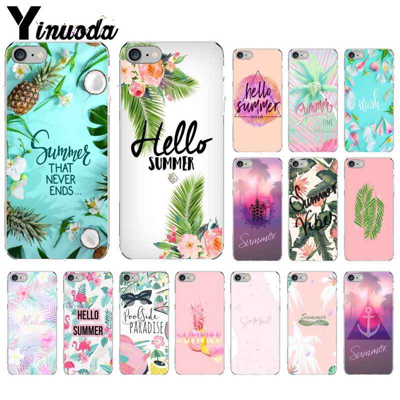 Yinuoda, bonita funda de teléfono transparente de silicona suave para verano para iPhone 5, 5Sx, 6, 7, 7plus, 8, 8Plus, X, XS, MAX y XR