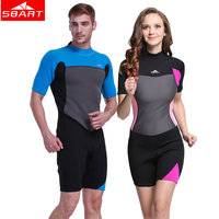 2mm Neoprene Diving Wetsuits women's Men's Short Sleeved Jellyfish Warm Snorkeling Wetsuits Swimming Diving Wearing Wetsuits