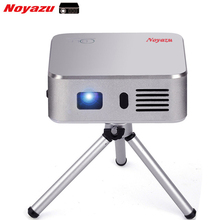 Noyazu Portátil Mini LED Proyector Wifi Smart DLP Pico Proyector con HDMI/USB de Control Inalámbrico para el Hogar Al Aire Libre de Viaje