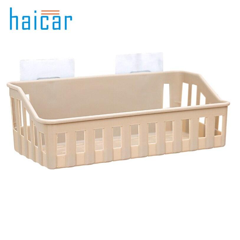 Bathroom Storage Rack Strong Seamless Adhesive hook Kitchen Wall organizer u71018
