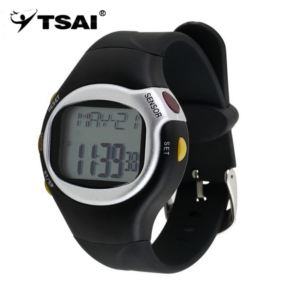 все цены на TSAI Pulse Heart Rate Monitor Wrist Watch Calories Counter Sports Fitness Exercise Wholesale Drop Shipping