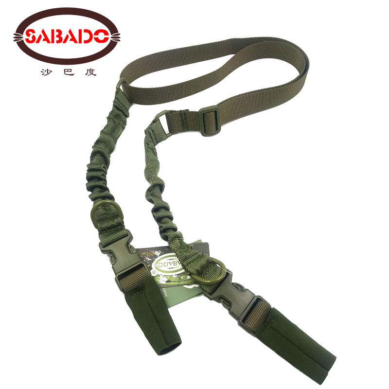 Outdoor Camping Survival Sling Multifunctional Strap 2 Point Airsoft Hunting Belt Rope Tactical Military Elastic Gear Gun Sling