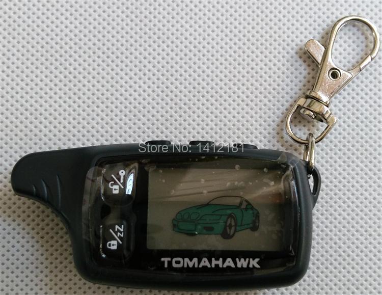 Porte-clés TW-9030, porte-clés télécommandé TW 9030 LCD pour la sécurité du véhicule système d'alarme de voiture 2 voies Tomahawk TW9030