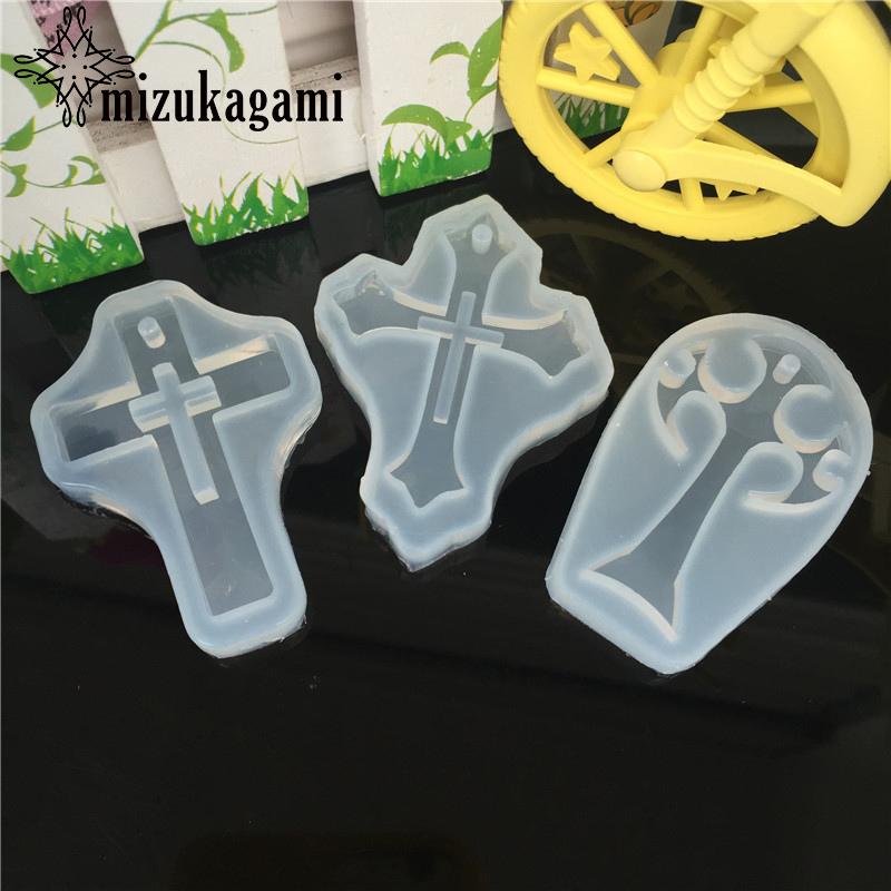 1pcs UV Resin Jewelry Liquid Silicone Mold Cross Pendant Resin Charms Molds For DIY Intersperse Decorate Making Jewelry