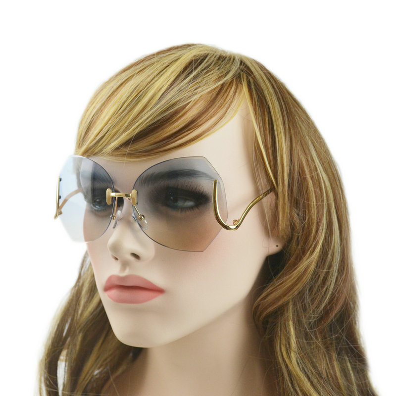 Clear Sunglasses Women  new fashion rimless sunglasses women grant rimless sun glasses