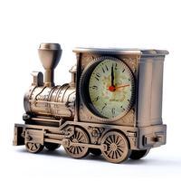 Free Shipping Men Retro Train Office Desk Alarm Clock Birthday Xmas Creative Novelty Gift