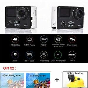Image 3 - ต้นฉบับ EKEN H6S 4K + Ultra HD 14MP พร้อม EIS REMOTE กล้องวิดีโอ Ambarella A12 ชิป WIFI 30 M กันน้ำ Action กล้อง