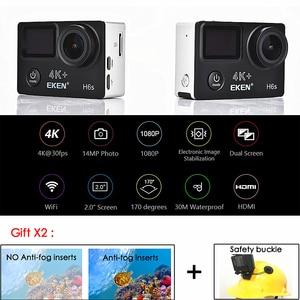 Image 2 - Original EKEN H6S Ultra HD Action Camera with Ambarella A12 chip 4k/30fps 1080p/60fps EIS 30M Waterproof Sport Camera