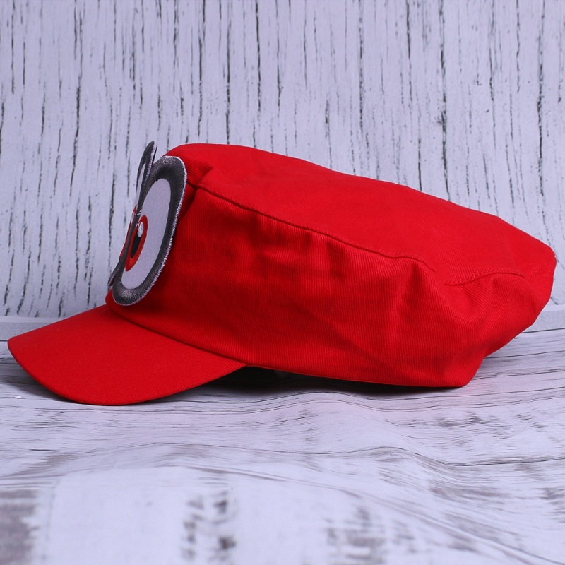 Game Super Mario Odyssey Adult Cap Child Cosplay Handmade Caps (5)