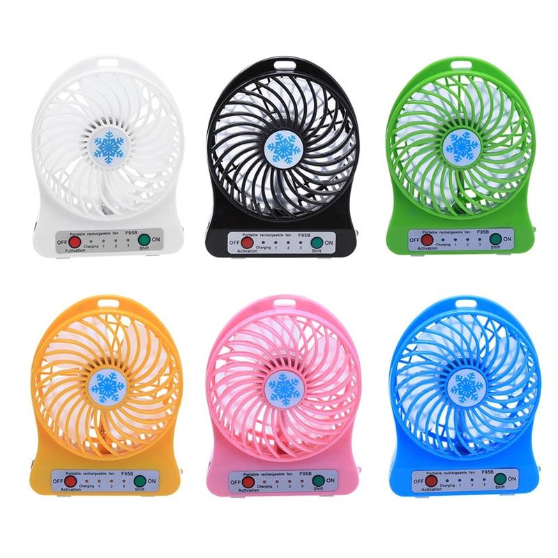 Tragbare Mini USB Fan 18650 mah Batterie Wiederaufladbare 3 Getriebe Geschwindigkeit 4,5 watt Super Starke Wind ABS Kunststoff Lüfter USB Gadgets