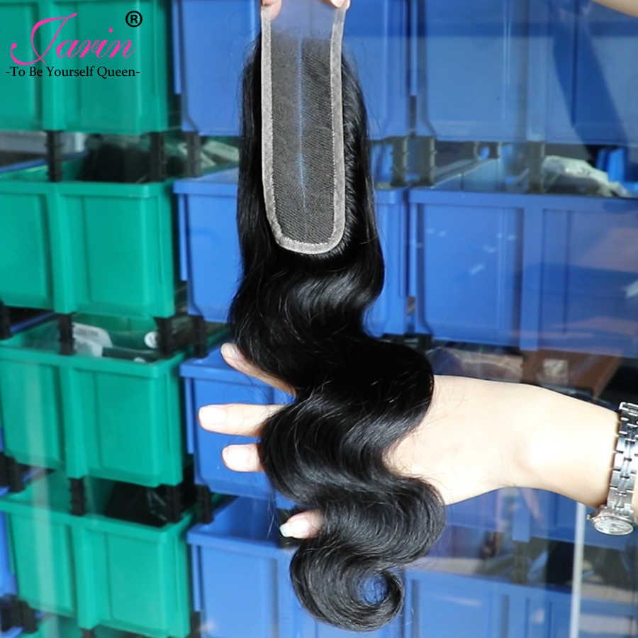Jarin пучки волнистых волос с 2x6 закрытие шнурка перуанские человеческие волосы с закрытием Remy средняя часть натуральные накладные волосы