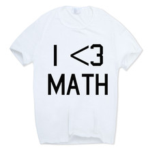 Hecoolba New Fashion I Love Math T-shirt Geek Math Cool T Shirt Men's Summer Cool O-neck Clothing HCP855(China)