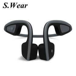 48 hours shipping Bone Conduction S.Wear LF-19 Wireless Bluetooth Stereo Headsets BT 4.1 Waterproof Neck-strap earphone with box